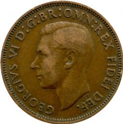George VI Half Penny For Sale
